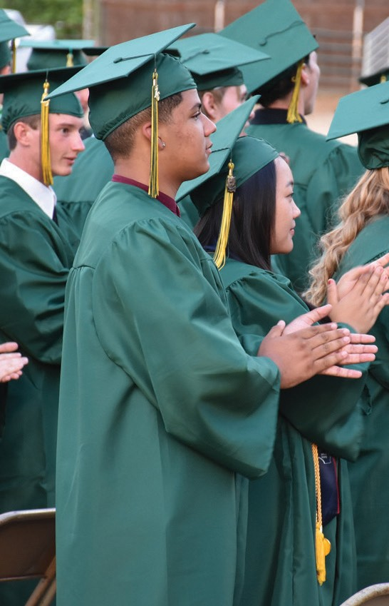 Students had plenty to be happy about as they earned their diplomas.